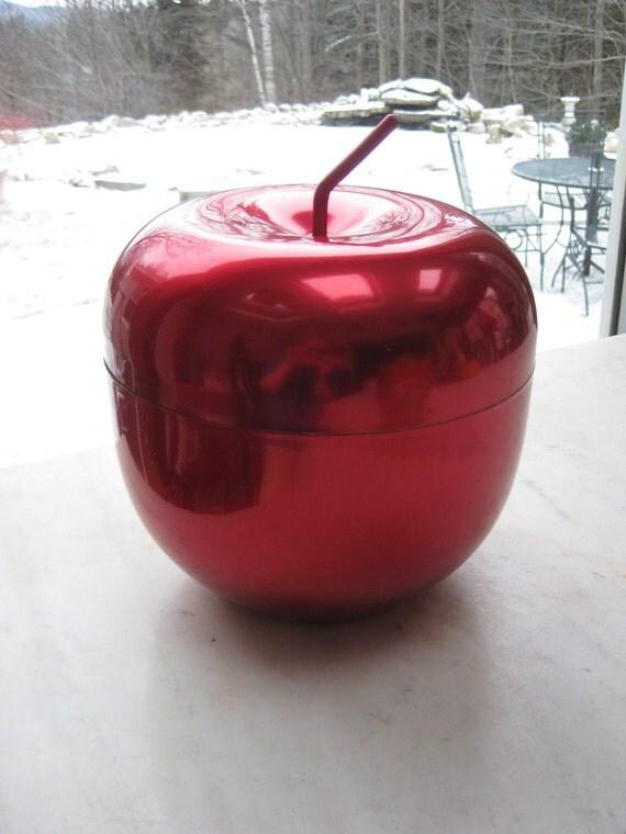 Vintage Red Apple Ice Bucket