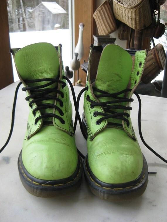 Vintage Lime Green Doc Martens