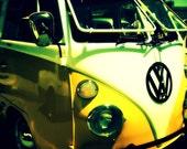 Volkswagen Bus Photography Print, Hippie, Beach, Retro, House Decor, Fine Art Photography, 16x20 Archival Paper Photo Print