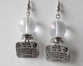 Crystal ball ouija board earrings gypsy fortune telling steampunk circus