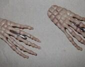 Skeleton hand bones hair barrette clip halloween goth horror punk