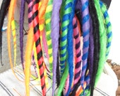 Reserved Custom Dread falls and headband for Desiree Marie Rainbow and Black