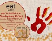 Thanksgiving Potluck Printable Invitation-Custom