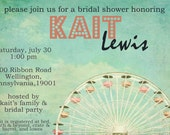 Whimsical Ferris Wheel Bridal Shower Invite-Printable