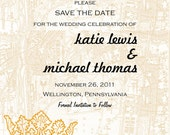 French-Inspired Save the Date-Printable