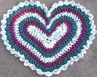 Crochet Heart ORIGINAL Rag Rug Pattern
