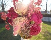 Custom Bouquet Naturally Dried Flowers for Country, Farm, Vintage Chic Wedding Eco-friendly Keepsake for bride and bridesmaids