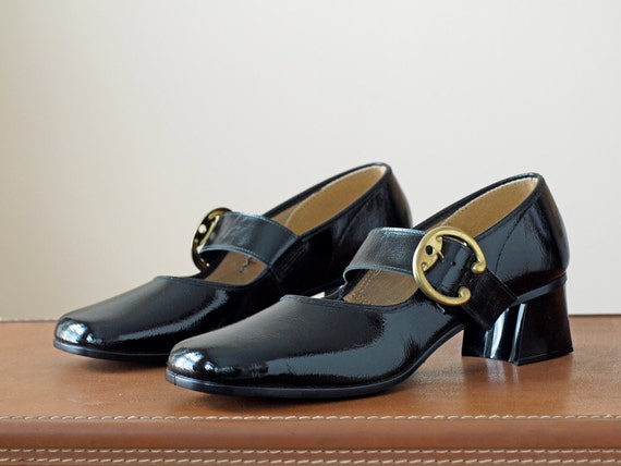 1970s Mary Janes NOS / 70s Mary Jane Heels // The Tap Dance Kid