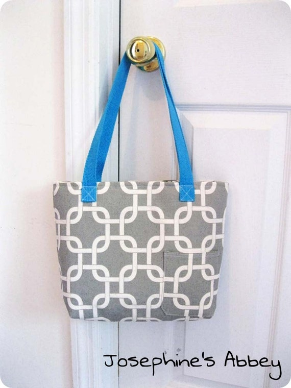Sales-Chic Reversible Grey Summer Hobo Tote, Laptop, Gym, Weekend Bag from Josephine's Abbey