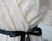 Halston III Ivory Lace Dress