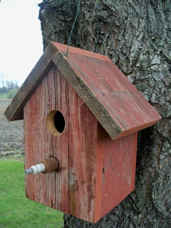 Barnwood Outdoor Birdhouse