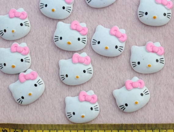 SZ0096 set of 25pcs Big decoden hello kitty cabachon flat back pink 26mm