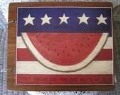 Patriotic Americana wooden book