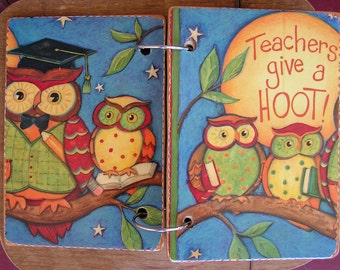 Teachers Give A Hoot wooden book