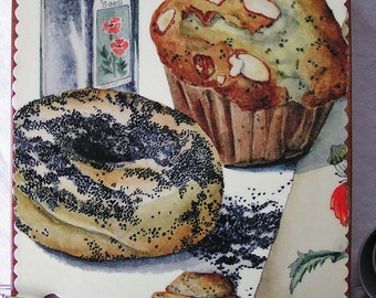 Poppy Seed Bagel and Muffin wooden book