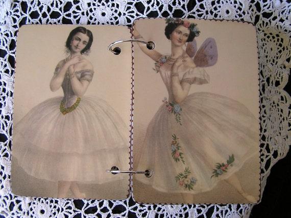 Ballerina wooden book