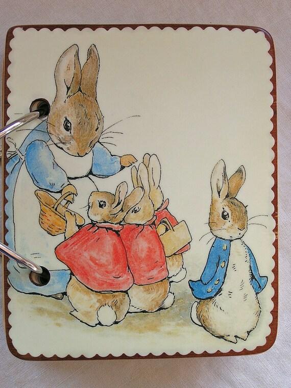 Mrs. Rabbit wooden book
