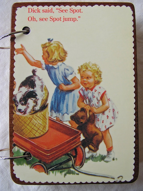 Dick and Jane no. 2 wooden book