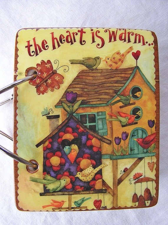 Birds and Birdhouses wooden book