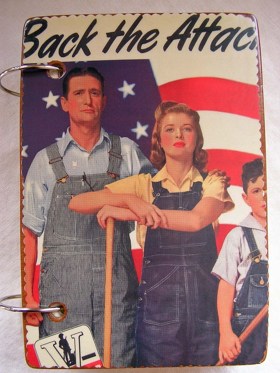 Vintage Military Posters wooden book