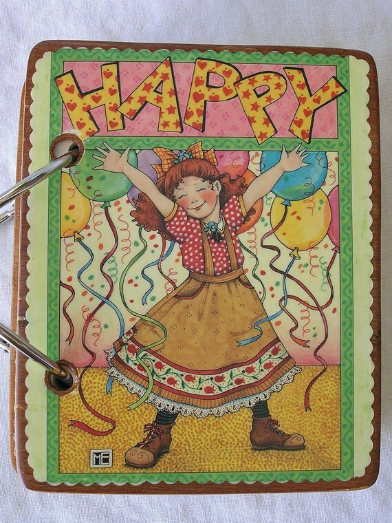 Happy Girl wooden book