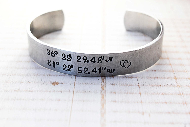 sted latitude longitude cuff bracelet