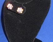 Crystal AB Swarovski Rhinestone Stud Earrings