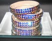 Swarovski Crystal Bangle Braclets Meridian Blue
