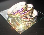 Swarovski Crystal Bangle Bracelets AB and Element Stones