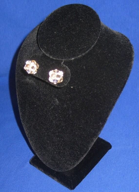 Silk Swarovski Crystal Rhinestone Stud Earrings