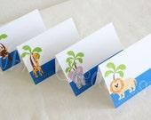 Animal Place Cards - Boy or Girl - DIY Printable Digital File