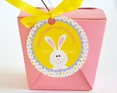 Personalized Easter Bunny Favor Tag - DIY Printable Digital File
