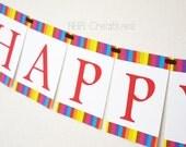 Happy Birthday Fiesta Banner - DIY Printable Digital File