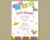 Fiesta Birthday Invitation - Personalized DIY Printable Digital File