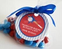 Personalized Baseball Favor Tag - DIY Printable Digital File