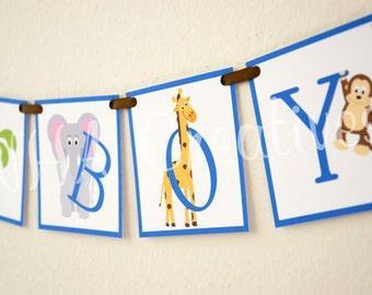 It's a Boy - It's a Girl - Animal Baby Shower DIY Digital Printable Banner