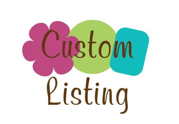 Custom Listing for creel1216