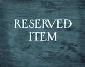 Reserved Item for Tasha Moon