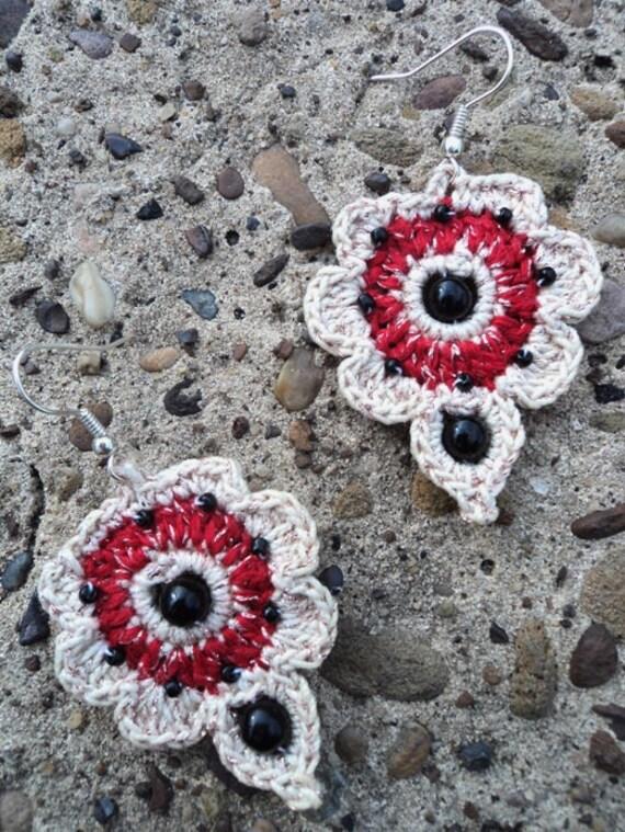 Heart it - cotton crochet earrings