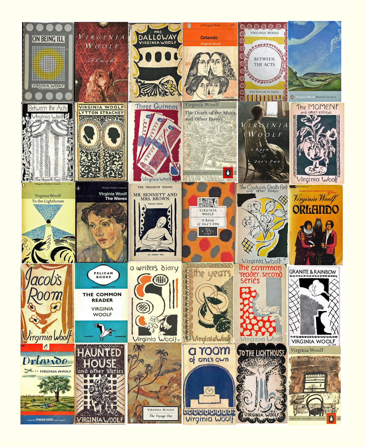 Vc Andrews Book Cover Art ~ Virginia woolf book covers fine art print inches