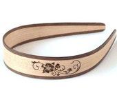 Natural Headband - Wood Headband - Cherry Blossom - Walnut/Maple