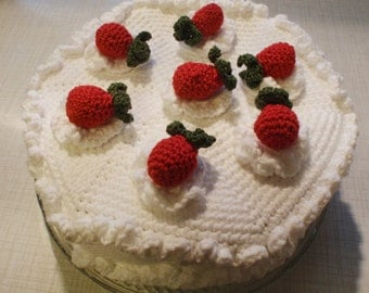 Strawberry Cake crochet pattern PDF