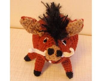 Amigurumi crochet pattern PDF pumba