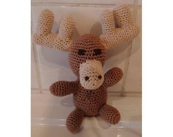 Amigurumi crocheted Moose