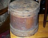 Firkin Sugar Bucket with Wooden Handle