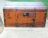 Primitive Wooden Trunk