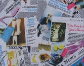 "3001 -1 yard Vinyl Waterproof Fabric - Fashion Newspaper -  57""x36"""
