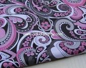 """3016 - 1 yard Vinyl Waterproof Fabric - Vintage Flower - 57""""x36"""""""
