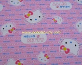 "2701 - 1 meter cotton fabric - Hello kitty - pink - 63""x39"""