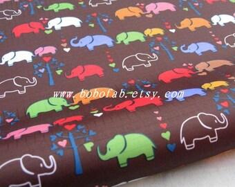 "3095A  - 1 yard Vinyl Waterproof Fabric - Elephant (brown)  - 57""x36"""